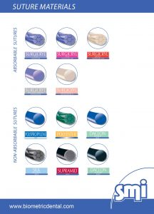 operating dental sutures