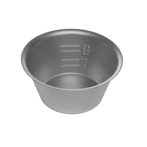 Devemed mixing bowl for bone material